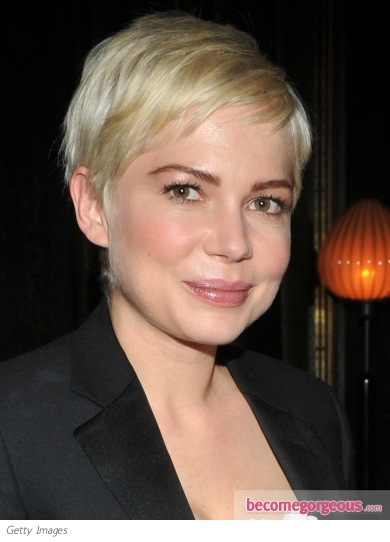 Michele Williams Pale Blonde Pixie