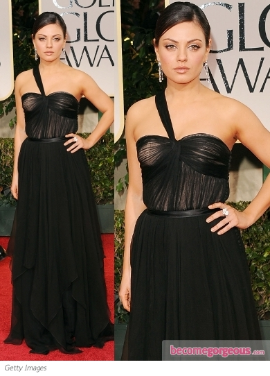 Mila Kunis in Dior at 2012 Golden Globes