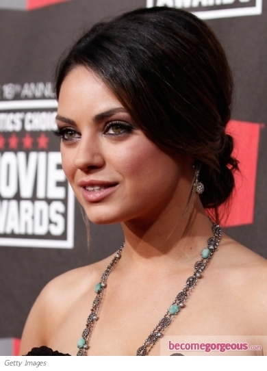 Mila Kunis Hairstyle at 2011 Critics' Choice Awards