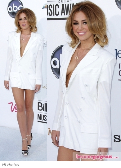Miley Cyrus in Jean Paul Gaultier Tux Dress