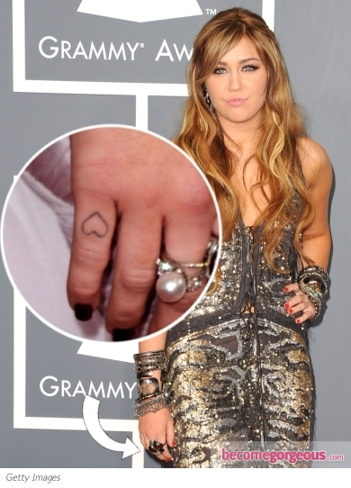 Miley Cyrus Heart Pinky Tattoo