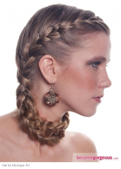 Romantic Braided Hair Style