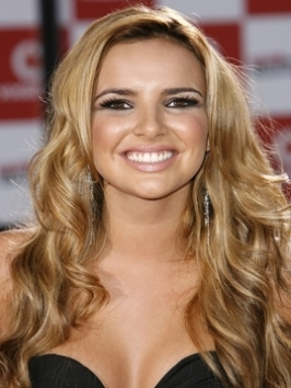 Nadine Coyle Loose Curly Hairstyle