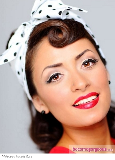 Glam Pin Up Girl Makeup