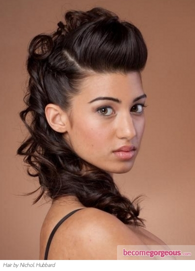 Lovely Loose Updo Hair Style