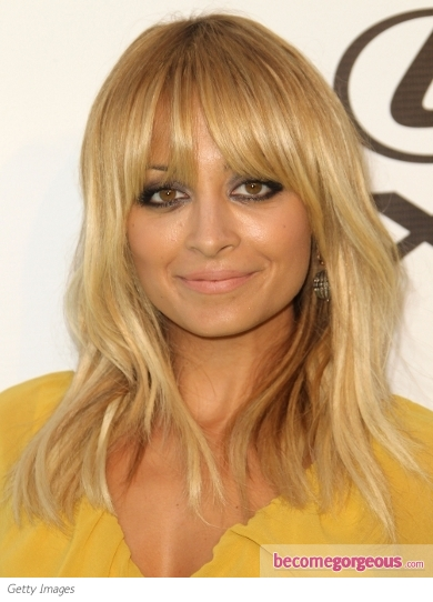 Nicole Richie Layered Hair with Bangs