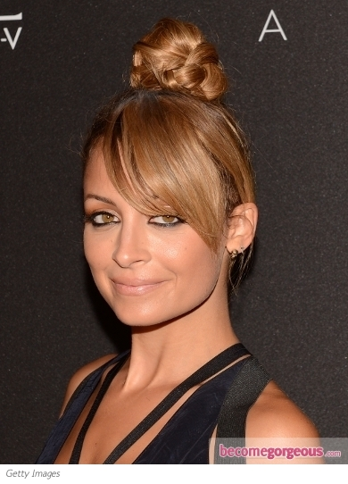 Nicole Richie's Braided Top Knot