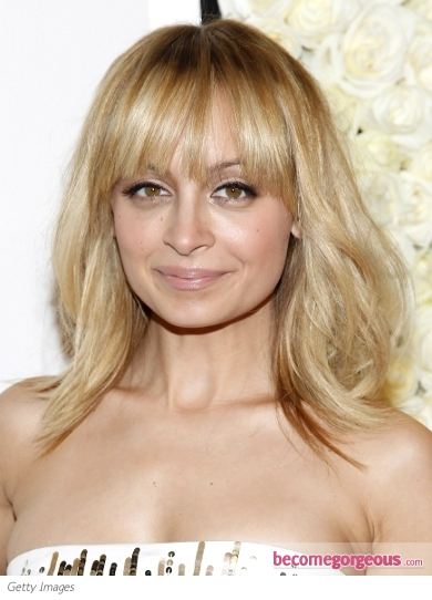 Nicole Richie Tousled Shoulder-Length Hairstyle