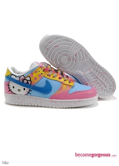 Nike Dunk Low Hello Kitty Blue Pink Shoes