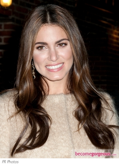 Nikki Reed Glossy Wavy Hairstyle