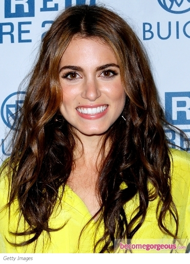 Nikki Reed Tousled Wavy Hairstyle