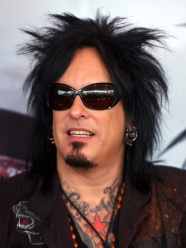 Nikki Sixx with Long Haircut