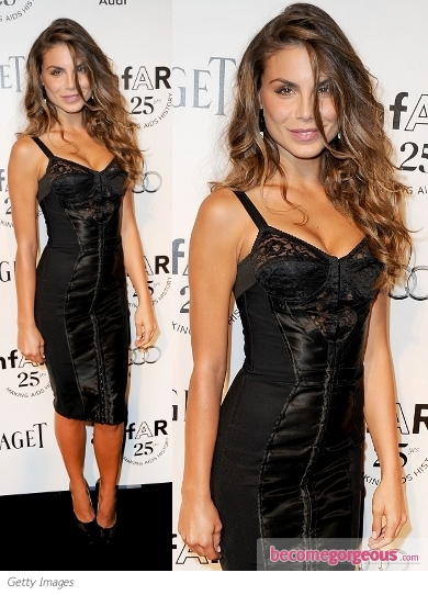 Nina Senicar in Dolce & Gabbana Bustier Dress