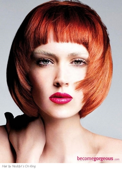 Red Bob Hair Style