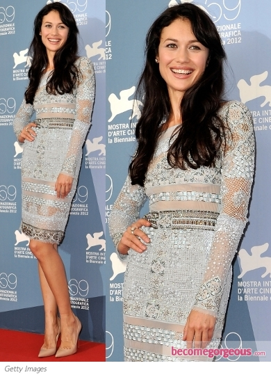 Olga Kurylenko in Emilio Pucci Embellished Dress