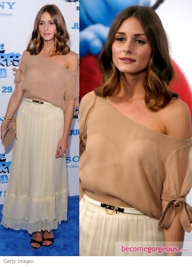 Olivia Palermo in Elizabeth and James Maxi Skirt