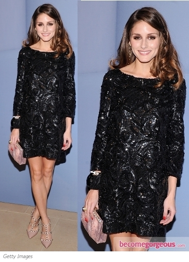 Olivia Palermo in Marchesa Sequin Dress