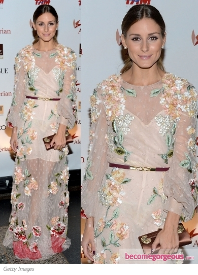 Olivia Palermo in Valentino Floral Dress