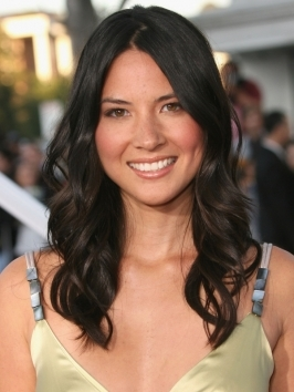 Olivia Munn made her way down the red carpet at the InStyle Summer Soiree in this glam look. The perfect combination of glossy color, diagonal part and turned-under ends make Olivia Munn's swingy bob hairstyle one of our faves!