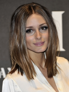 Olivia Palermo Straight Long Bob Hairstyle
