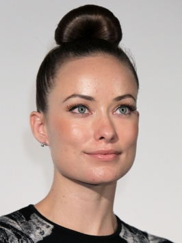 Olivia Wilde Tight Topknot Hairstyle