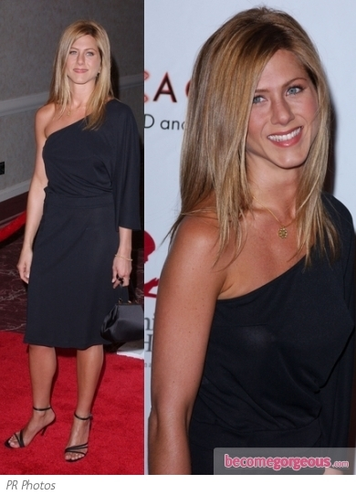 Jennifer Aniston hit up the premiere of the film she directed, 'Call Me Crazy' wearing a Christian Dior tuxedo style corset top with a pair of black shorts. Black satin pumps and clutch bag finish the look.