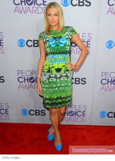 Paris Hilton's Dress at 2013 People's Choice Awards