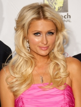 Paris Hilton Long Hairstyle with Big Curls