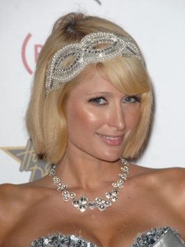 Paris Hilton's Bob Hairstyle with Fancy Headband