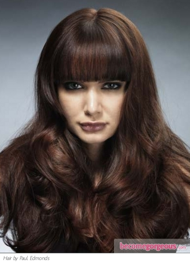 This super thick bangs long hair style is perfect for those who wish to