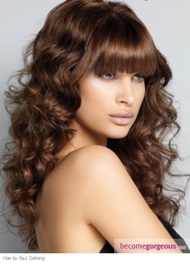 Chic Big Curls Long Hair Style