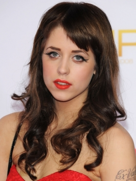 Peaches Geldof Brunette Curly Hairstyle