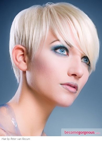 Short Platinum Pixie Haircut