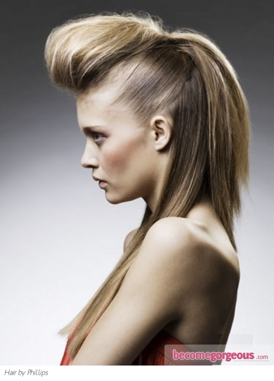 Pictures : Long Hairstyles - Fabulous Long Quiff Hair Style