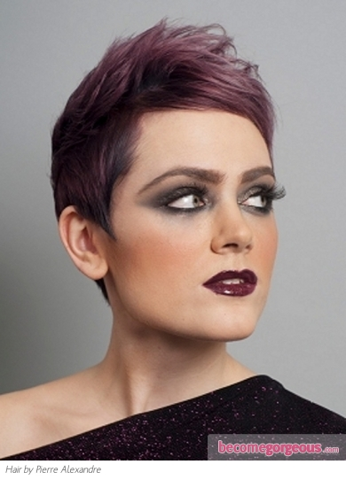 Short Purple Hair Style | Makeup Tips And Fashion