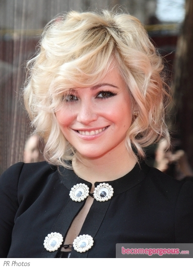 Pixie Lott Textured Bob Hairstyle