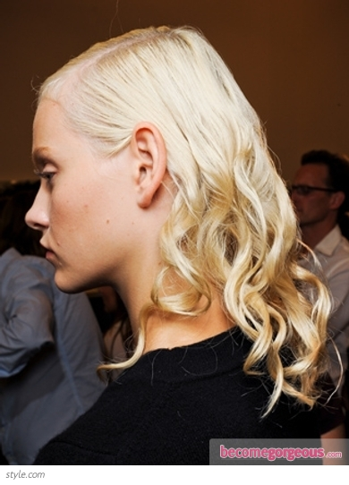 Wet Look Curls at Prada