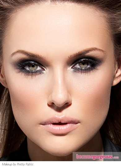 Glittery Glam Smokey Eye Makeup