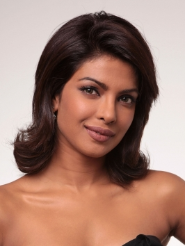 Priyanka Chopra Medium Layered Haircut