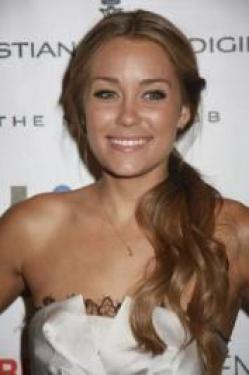 Lauren Conrad with Side Down-Do Hairstyle