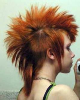 Long Red Mohawk