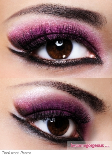 Purple Eyeshadow Tutorial: Purple And Black Eye Makeup Look