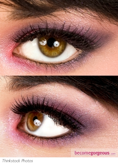 Purple and Pink Eye Makeup Look