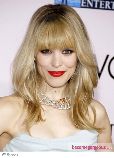 Rachel McAdams Layered Hair with Bangs