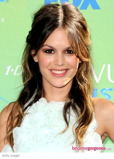 Rachel Bilson Tousled Half Up Hairstyle