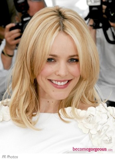 Rachel McAdams Blonde Medium Hairstyle 2011 Cannes