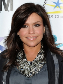 Rachel Ray Layered Hairstyle with Side Bangs