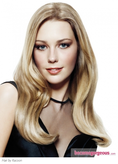 Sleek Long Blonde Hairstyle