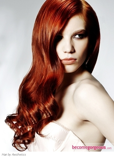 hair color for pale skin green eyes. Scarlet Red Hair Color