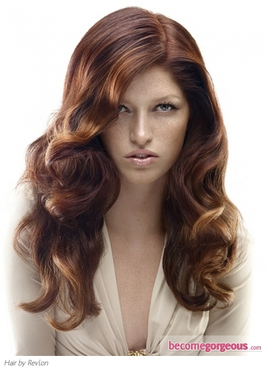 Long Curly Red Hair Style